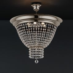 Classic ceiling lamp Classic ceiling lamp with crystal accents of the PHAEDRA collection Designed and produced in Athens, Greece by MAVROS Lighting. Ceiling Lamp, Ceiling Lights, Classic Ceiling, Modern Frames, Gold Glass, Glass Material, Fashion Lighting, Classic Style, Chrome