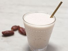 This is like a slightly-salty, dairy-free, cleaned-up version of a date shake. Needless to say, were big fans...