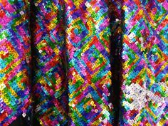 Rainbow hologram Sequins ladies dresses dance by TheFabricShopUK Dance Dresses, Ladies Dresses, Color Crafts, Hologram, Sequin Dress, Swatch, Sequins, Rainbow, Year 2