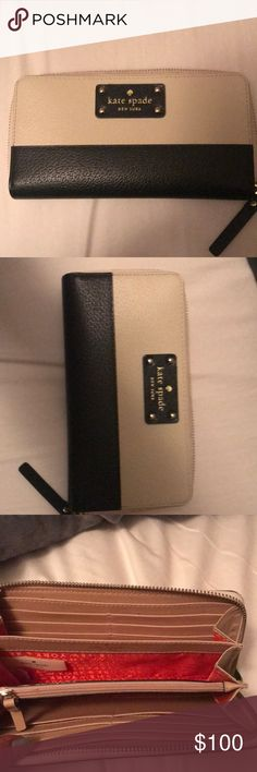 Kate Spade Wallet Only used once, perfect condition. 12 card holders and lots of space! kate spade Bags Wallets