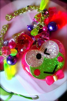 ☮✿★ Keroppi Love Candy Crystal Necklace  ✝☯★☮