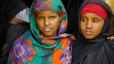 On location with HALF THE SKY: Two girls in rural Gumar Town, Somaliland (Courtesy Joshua Bennett)