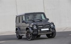 Download wallpapers Mercedes-Benz G-Class, 2017, G63 AMG, SUV, brutal cars, black G63, Mercedes