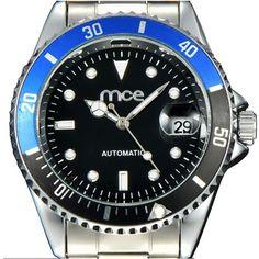 Sale 21% (20.99$) - MCE 60034 Man Self-wind Mechanical Auto-date Stainless Steel Luxury Business Wrist Watch