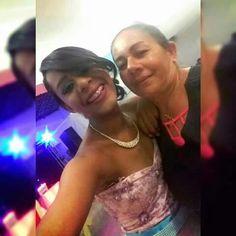 Clau nat e sua mãe Cristina.