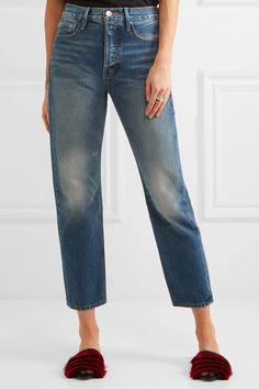 FRAME - Le Original Cropped High-rise Straight-leg Jeans - Blue - 28