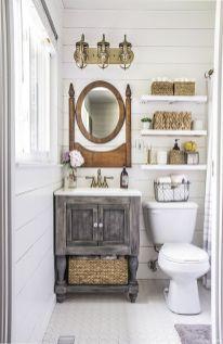 Modern Farmhouse Bathroom for Small Spaces Ideas 59