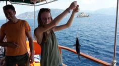 Caught fresh Tuna, thx to Effe - our captain