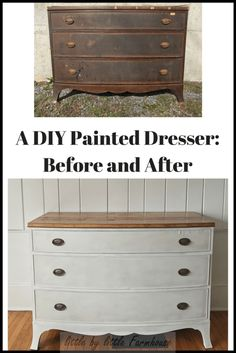 A DIY Painted Dresser: Before and After - Little by Little Farmhouse