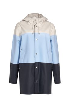 If you're going to wear a mac, make it this functional but fashion-forward one.  Stutterheim striped rubberised raincoat, £255, Harvey Nichols   - HarpersBAZAAR.co.uk