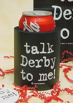 Talk Derby to Me Huggie/Wine Glasses/Gift Bags - better price!