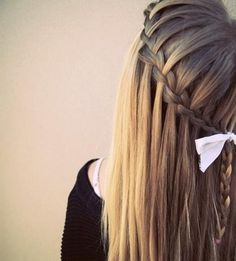 Connected waterfall with adorable white bow..... WANT