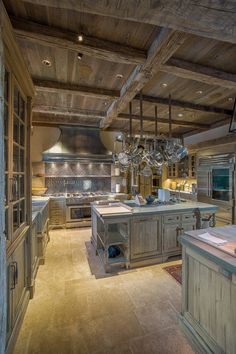 reclaimed wood beams and brown barn board in Greenwich CT kitchen