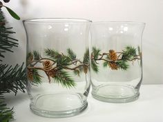 Your place to buy and sell all things handmade Painted Wood Crafts, Hand Painted, Painted Wine Glasses, Paint Set, Pine Cones, Tea Lights, Candle Holders, Candles, Christmas Holidays
