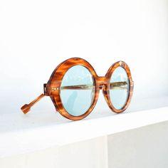 Tortoise sunglasses blue lenses