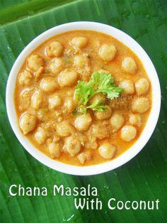 Chana Masala With Coconut / Chole Kurma | Cooking Is Easy