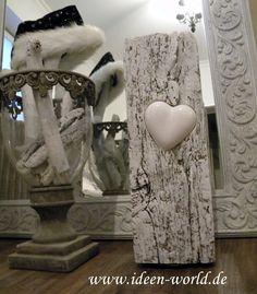 Elegant Deko /gefertigt Aus Eiche 17.Jahrhundert Das Herz Aus Keramik In Das Holz  Eingelassen