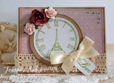 Inspired by Stamping Paris stamp set, card, paris, love card, friend card, shabby chic, shabby chic card