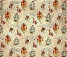 The Seven Seas Vintage fabric by urban_threads on Spoonflower - custom fabric