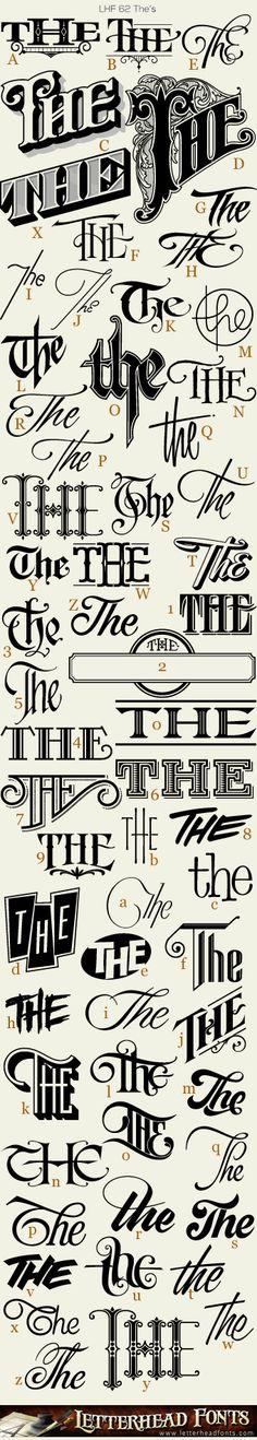Letterhead Fonts / 62 The's font / Book Title Fonts