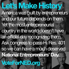 Vote to recognize National Entrepreneurs' Day!