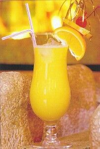 Yellow Bird: Fly away any day. 1 oz Bacardi Light Rum. 1/4 oz Galliano. 1/4 oz Creme de Banana. 2 oz Orange Juice. 1 oz Pineapple Juice. Blend all ingredients together. Pour over ice. Garnish with an orange slice and cherry.