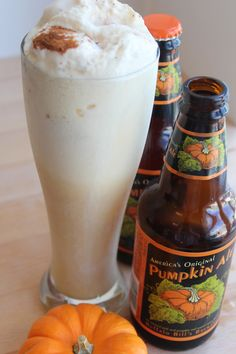 Pumpkin Ale Ice Cream Float - I've never seen pumpkin ale but Apple ale sure is yummy. Bet a float with it would be yummy.