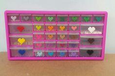 Perler bead storage organization drawers Big Pink Box sold on Amazon.com