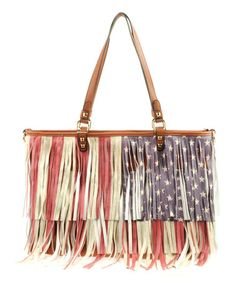 Look what I found on #zulily! Brown Flag Tote #zulilyfinds