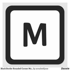 Black Border Rounded Corner Monogram Square Sticker Monogram Gifts, Monogram Letters, Easy Peel, Black Square, Round Corner, Custom Stickers, Colorful Backgrounds, Activities For Kids, Diy Projects