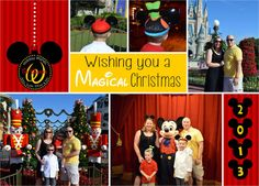 Christmas Cards - Disney Photo Collage - 9 photos on Etsy, $18.00 ...