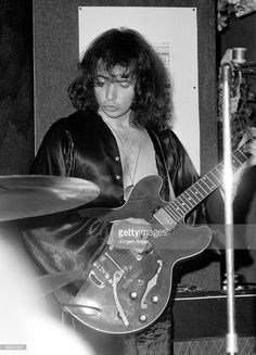 Ritchie Blackmore of Deep Purple performs on stage at Club 6 on September 7th 1969 in Copenhagen, Denmark. He plays a Gibson ES-335 guitar.
