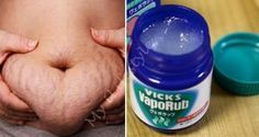 How To Use Vicks VapoRub To Get Rid Belly Fat & Cellulite, Eliminate Stretch Marks, Acne Scars & Have Firmer Skin. Home Remedies For Cellulite And Stretch Marks Vicks Vaporub, Health Remedies, Home Remedies, Natural Remedies, Health Tips, Health And Wellness, Chest Congestion, Belly Fat Burner, Abdominal Fat