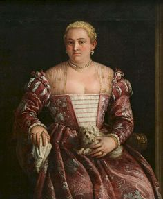 Venice, The Republic of Venice, Francesco Montemezzano, c1570s: Portrait of a Woman (possibly Picabella Pagliarani, wife of Giacomo Ragazzoni)