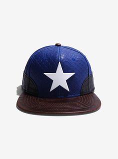 Marvel Captain America Built Up Snapback Hat   BoxLunch