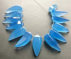 AQUA  BLUE CHALCEDONY 16X12 MM CUSHION CUT OUTSTANDING BLUE COLOR