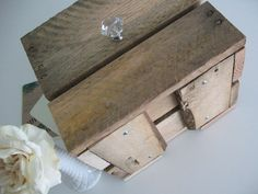 Small Wooden Box Made With Repurposed Pallet Boards For Wedding, Event, Or…