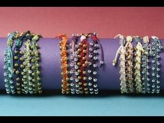 Watch and learn as Brittany Ketcham shows you how to make these rich and beautiful bracelets inspired by the bright and saturated colors of India and Bollywo...
