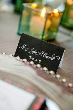 100 Printable Wedding or Event Escort Cards -- Fold-Over Typeset Place Cards -- pompdesigns on Etsy, $55.00
