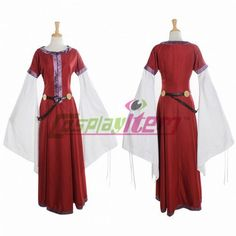 Traditional Red and White Vintage Medieval Clothing Costume Dress custom made #Cosplayitem #CompleteOutfit