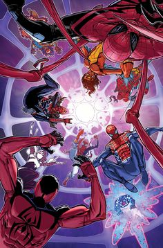 #Spiderman #Fan #Art. (Spider-Verse Vol.1 #2 Cover) By: Giuseppe Camuncoli. (THE * 5 * STÅR * ÅWARD * OF: * AW YEAH, IT'S MAJOR ÅWESOMENESS!!!™)[THANK Ü 4 PINNING!!!<·><]<©>ÅÅÅ+(OB4E)