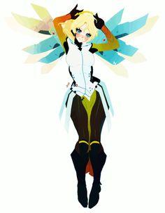 The Games of Chance: Overwatch fan art! Mercy! Mei! A little Genji!