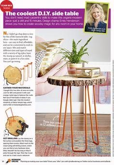 DIY Tree Slab Side Table in Redbook