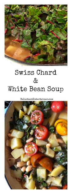 Swiss Chard and White Bean Soup at ReluctantEntertainer.com