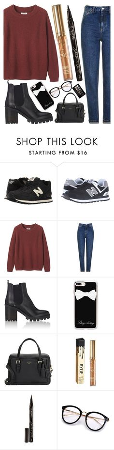 """""""winter #12"""" by beautybyee ❤ liked on Polyvore featuring New Balance Classics, Toast, Topshop, Barneys New York, Casetify, Kate Spade, Kylie Cosmetics, Smith & Cult, Maybelline and NewBalance"""