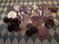 Great Mixture of Purple Vintage Buttons by PipersEmporium on Etsy, $4.75