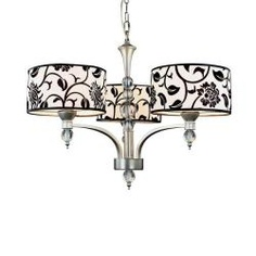 3 light silver floral chandelier