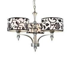 3 light silver floral chandelier