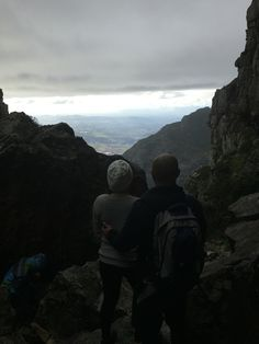 Halfway up the trail to the top of Table Mountain in Cape Town, South Africa