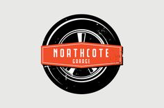 Automotive Repair Service Logo Template - The clean, sleek typographic treatment of this logo is reminiscent of a golden age of motor vehicles, and is perfect for a garage or repair service. The bold graphic screen print style of the car tire and badge brings forth the look and feel retro tin displays. This logo is perfectly suited to any auto related industry or any business seeking a retro edge with their identity. #automotive #garage #car #logo #design #retro
